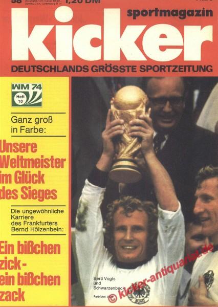 Kicker Sportmagazin Nr. 58, 15.7.1974 bis 21.7.1974