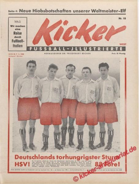 Kicker Nr. 10, 7.3.1955 bis 13.3.1955