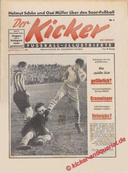 Kicker Nr. 1, 4.1.1954 bis 10.1.1954