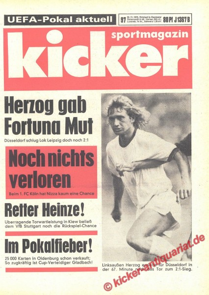 Kicker Sportmagazin Nr. 97, 29.11.1973 bis 5.12.1973