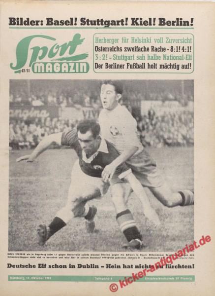 Sportmagazin Nr. 42, 17.10.1951 bis 23.10.1951