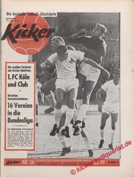 Kicker Nr. 34, 20.8.1962 bis 26.8.1962