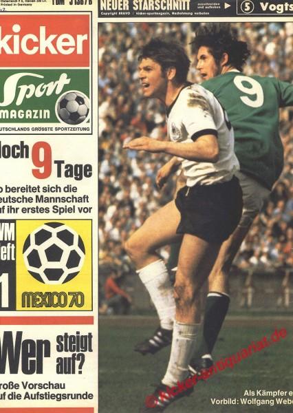 Kicker Sportmagazin Nr. 42, 25.5.1970 bis 31.5.1970