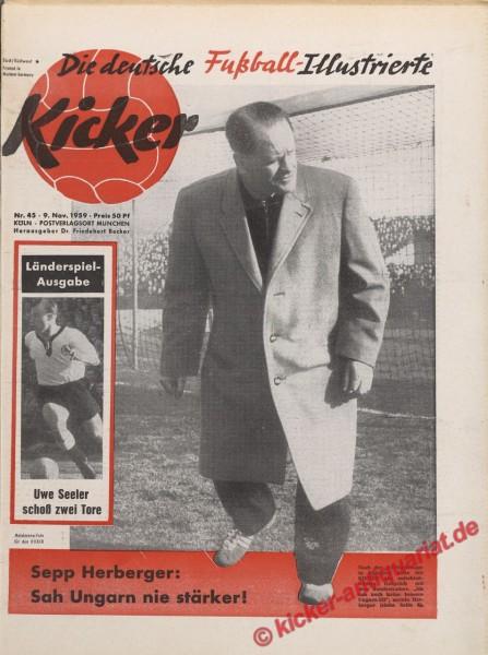 Kicker Nr. 45, 9.11.1959 bis 15.11.1959