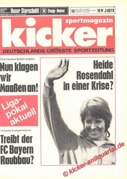 Kicker Sportmagazin Nr. 59, 20.7.1972 bis 26.7.1972