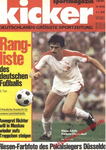 Kicker Sportmagazin Nr. 56, 9.7.1979 bis 15.7.1979