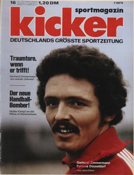 Kicker Sportmagazin Nr. 16, 24.2.1975 bis 2.3.1975