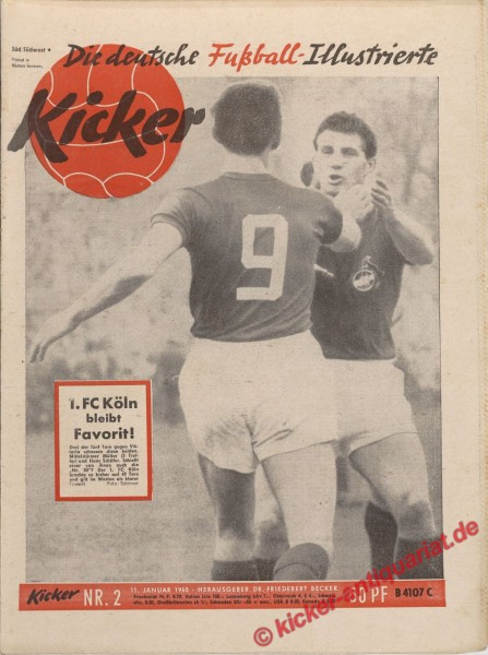 Kicker Nr. 2, 11.1.1960 bis 17.1.1960
