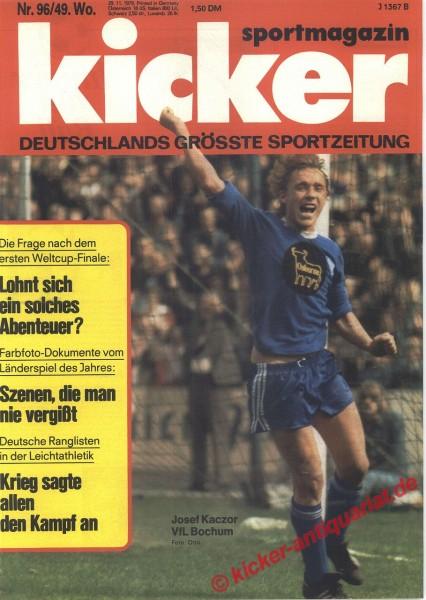Kicker Sportmagazin Nr. 96, 29.11.1976 bis 5.12.1976