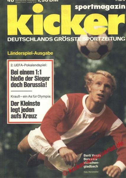 Kicker Sportmagazin Nr. 40, 20.5.1975 bis 26.5.1975