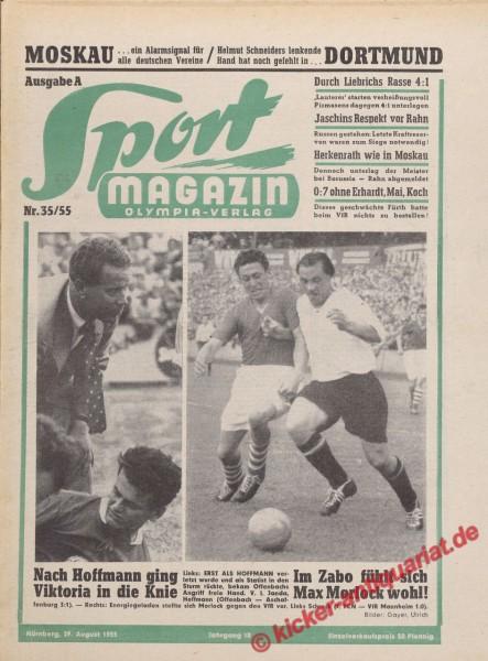 Sportmagazin Nr. 35A, 29.8.1955 bis 4.9.1955