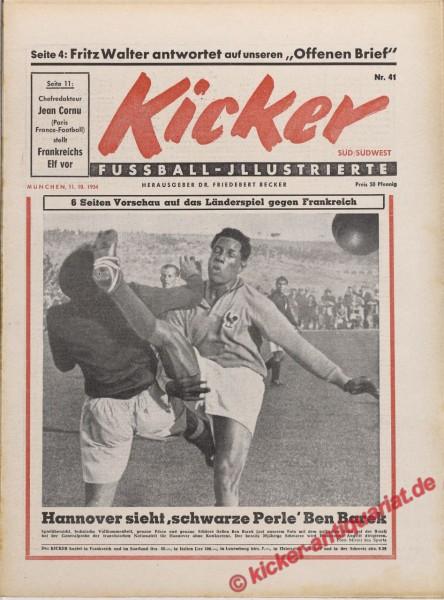Kicker Nr. 41, 11.10.1954 bis 17.10.1954