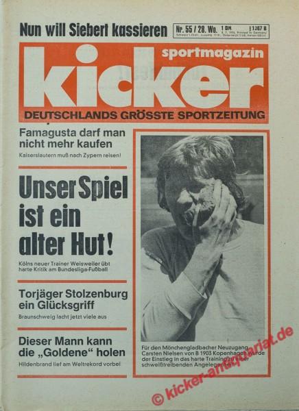 Kicker Sportmagazin Nr. 55, 8.7.1976 bis 14.7.1976