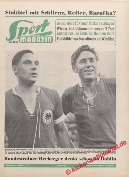 Sportmagazin Nr. 40, 3.10.1951 bis 9.10.1951