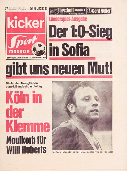Kicker Sportmagazin Nr. 77, 25.9.1969 bis 1.10.1969
