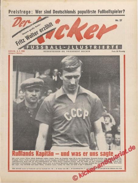 Kicker Nr. 27, 4.7.1955 bis 10.7.1955