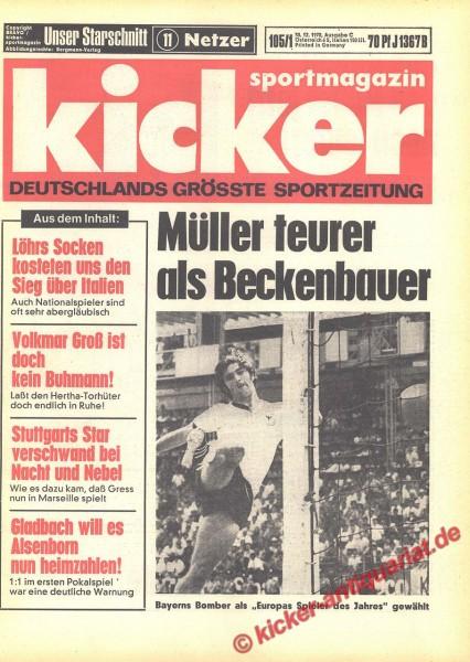 Kicker Sportmagazin Nr. 105, 30.12.1970 bis 5.1.1971