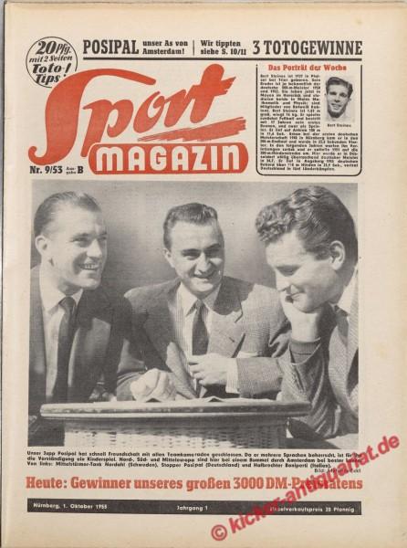 Sportmagazin Nr. 9B, 1.10.1953 bis 7.10.1953