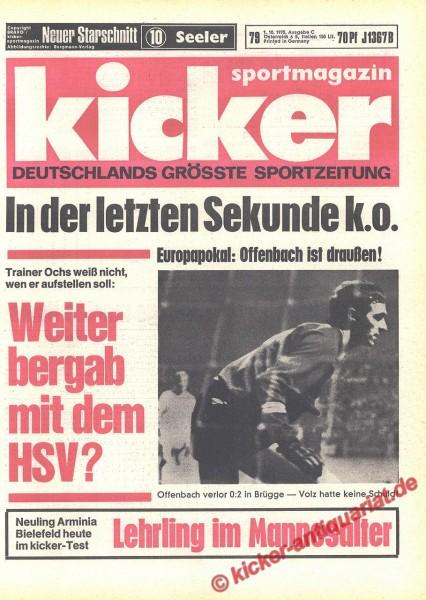 Kicker Sportmagazin Nr. 79, 1.10.1970 bis 7.10.1970