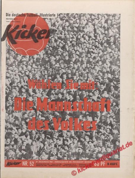 Kicker Nr. 52, 27.12.1961 bis 2.1.1962