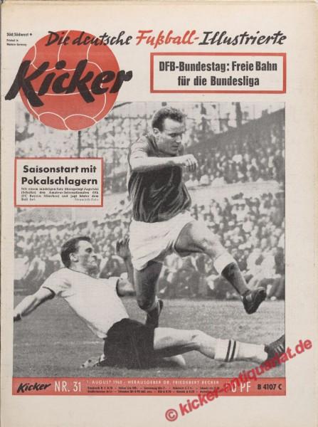 Kicker Nr. 31, 1.8.1960 bis 7.8.1960