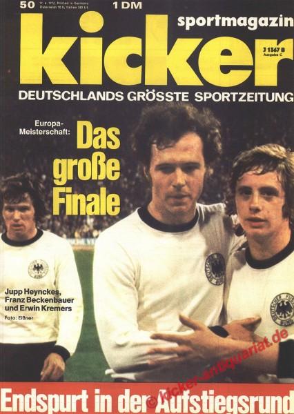 Kicker Sportmagazin Nr. 50, 19.6.1972 bis 25.6.1972