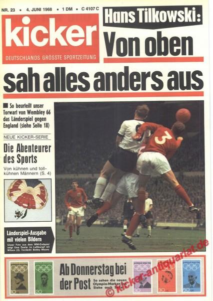 Kicker Sportmagazin Nr. 23, 4.6.1968 bis 10.6.1968