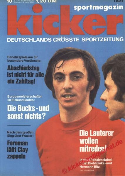 Kicker Sportmagazin Nr. 10, 29.1.1973 bis 4.2.1973