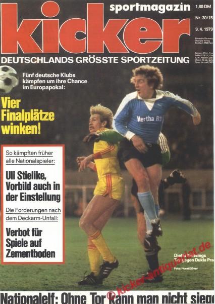 Kicker Sportmagazin Nr. 30, 9.4.1979 bis 15.4.1979