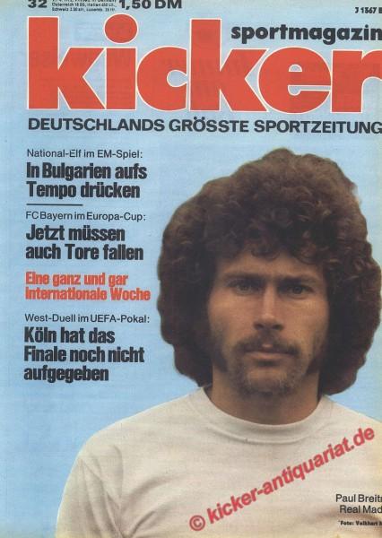 Kicker Sportmagazin Nr. 32, 21.4.1975 bis 27.4.1975