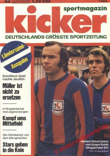 Kicker Sportmagazin Nr. 94, 19.11.1973 bis 25.11.1973