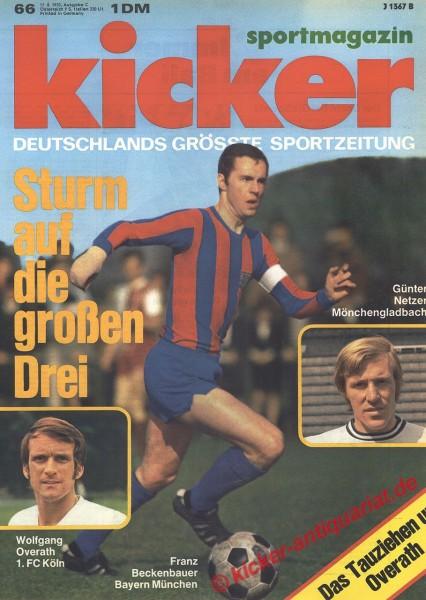 Kicker Sportmagazin Nr. 66, 17.8.1970 bis 23.8.1970