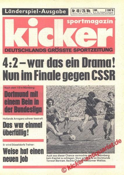 Kicker Sportmagazin Nr. 49, 18.6.1976 bis 24.6.1976