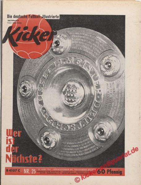 Kicker Nr. 25, 19.6.1961 bis 25.6.1961