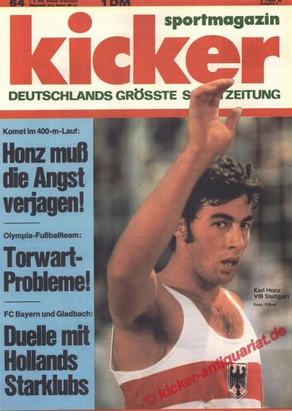 Kicker Sportmagazin Nr. 64, 7.8.1972 bis 13.8.1972