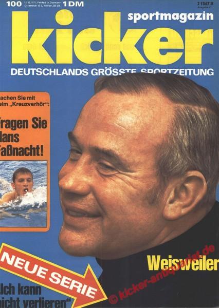 Kicker Sportmagazin Nr. 100, 13.12.1971 bis 19.12.1971