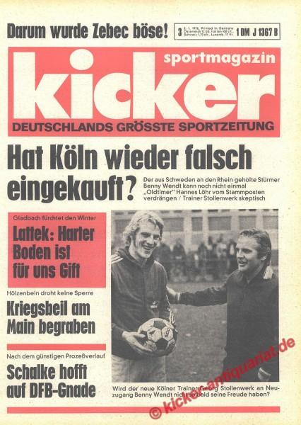 Kicker Sportmagazin Nr. 3, 8.1.1976 bis 14.1.1976