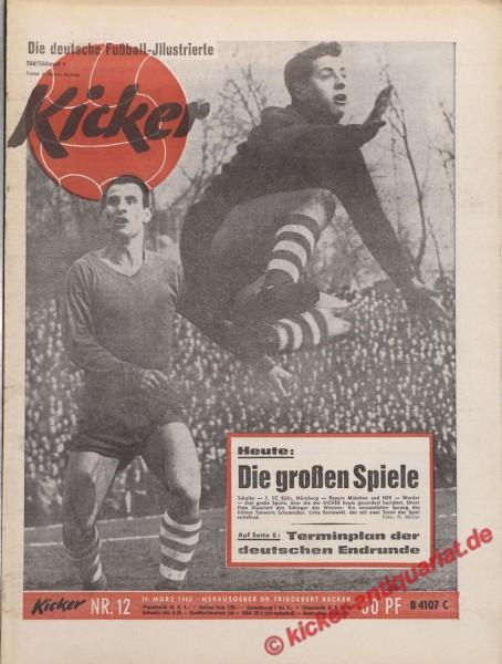 Kicker Nr. 12, 19.3.1962 bis 25.3.1962