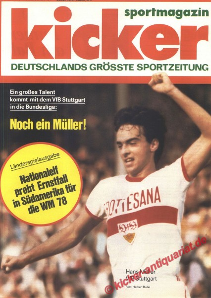 Kicker Sportmagazin Nr. 48, 13.6.1977 bis 19.6.1977