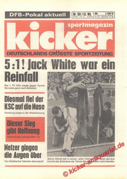 Kicker Sportmagazin Nr. 101, 16.12.1976 bis 22.12.1976