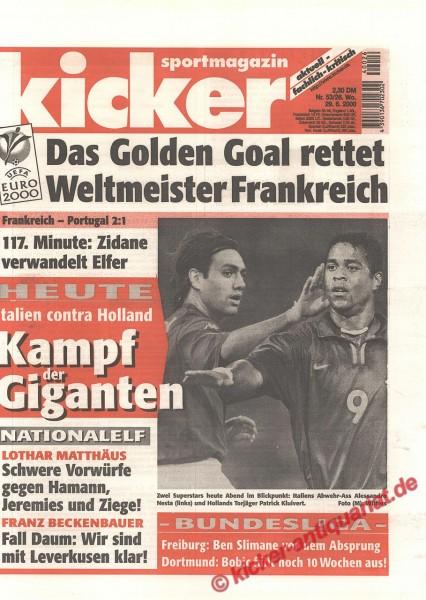 Kicker Sportmagazin Nr. 53, 29.6.2000 bis 5.7.2000