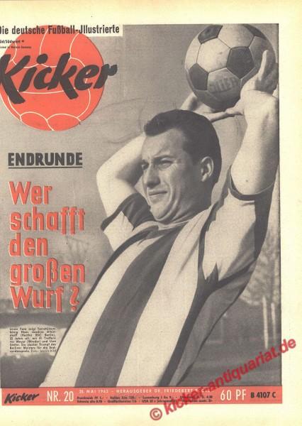 Kicker Nr. 20, 20.5.1963 bis 26.5.1963