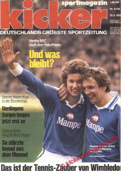 Kicker Sportmagazin Nr. 52, 25.6.1979 bis 1.7.1979