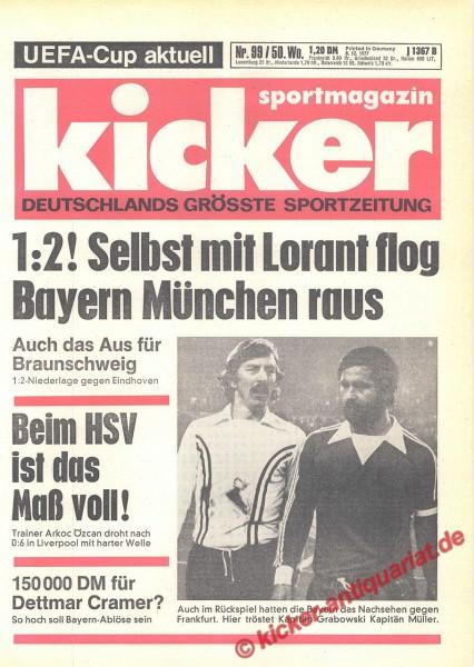 Kicker Sportmagazin Nr. 99, 8.12.1977 bis 14.12.1977