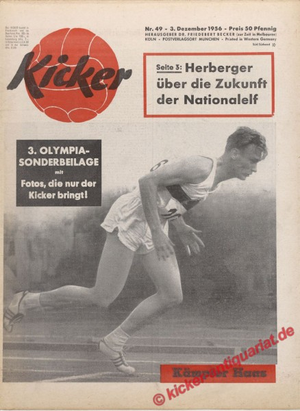 Kicker Nr. 49, 3.12.1956 bis 9.12.1956