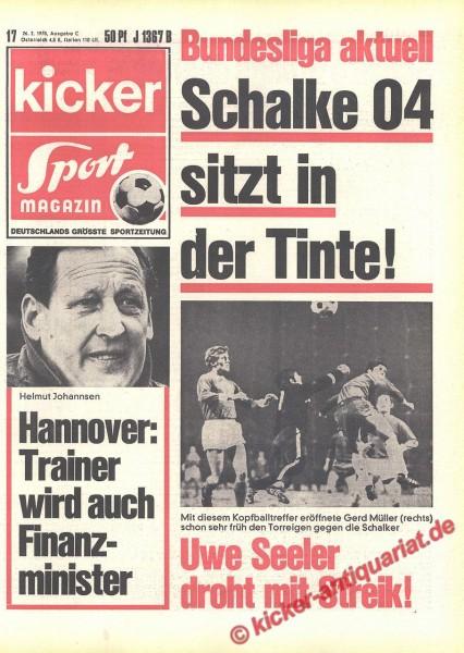 Kicker Sportmagazin Nr. 17, 26.2.1970 bis 4.3.1970
