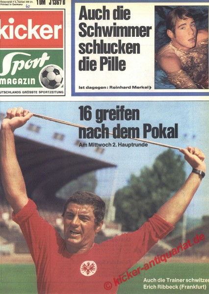 Kicker Sportmagazin Nr. 60, 27.7.1970 bis 2.8.1970