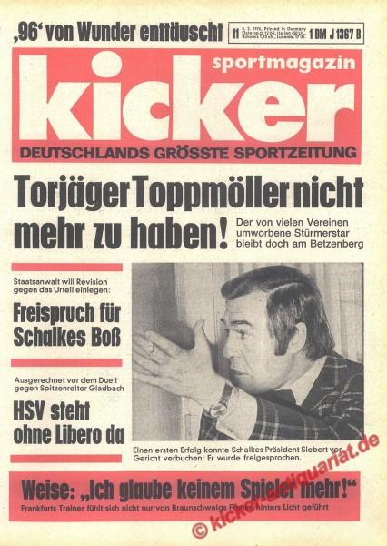 Kicker Sportmagazin Nr. 11, 5.2.1976 bis 11.2.1976