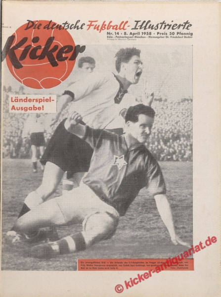 Kicker Nr. 14, 8.4.1958 bis 14.4.1958