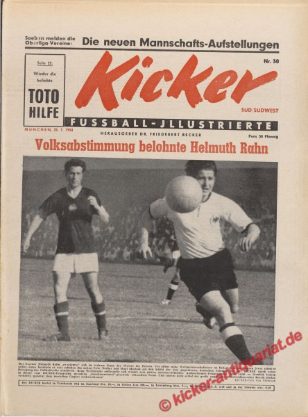 Kicker Nr. 30, 26.7.1954 bis 1.8.1954